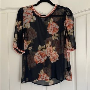 A New Day sheer floral blouse